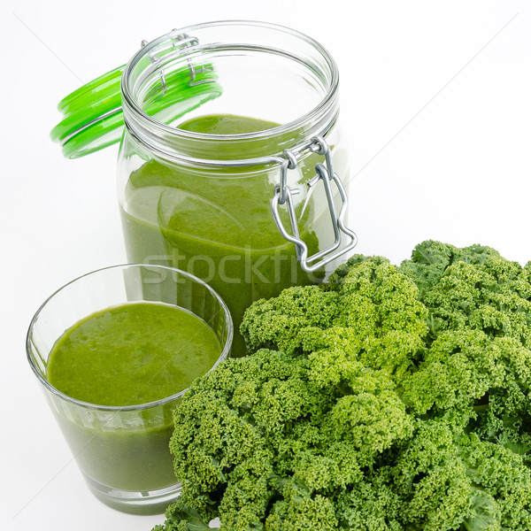 Green Smoothie With Fresh Kale Stock photo © PeterHermesFurian