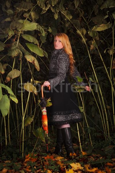 girl running in enchanted forest Stock photo © PetrMalyshev