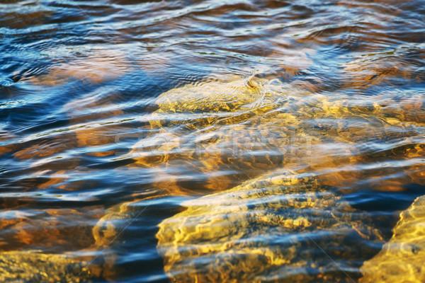 Rivière inférieur roches vue eau Photo stock © PetrMalyshev