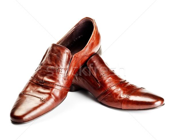 brown shoes Stock photo © PetrMalyshev