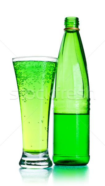 Sosa botella vidrio aislado blanco hielo Foto stock © PetrMalyshev