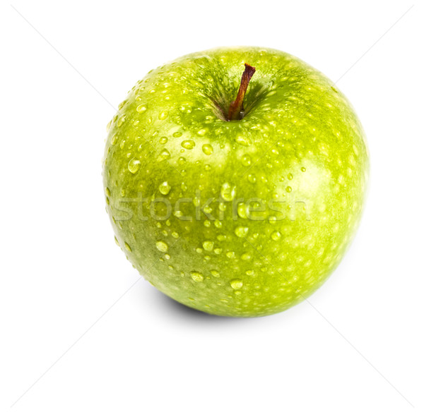 wet green apple Stock photo © PetrMalyshev