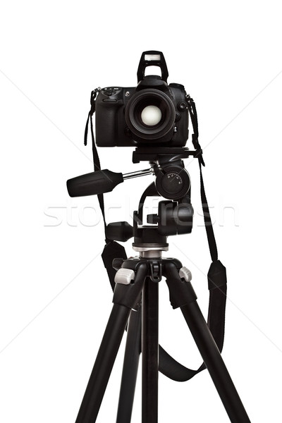 photo camera on tripod Stock photo © PetrMalyshev