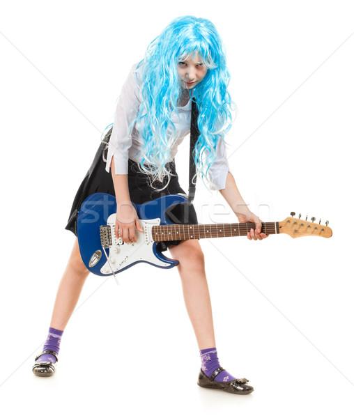 Teen Girl Rockstar Stock photo © PetrMalyshev