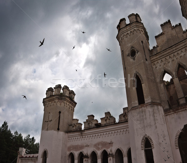 ancient castle under dark sky Stock photo © PetrMalyshev