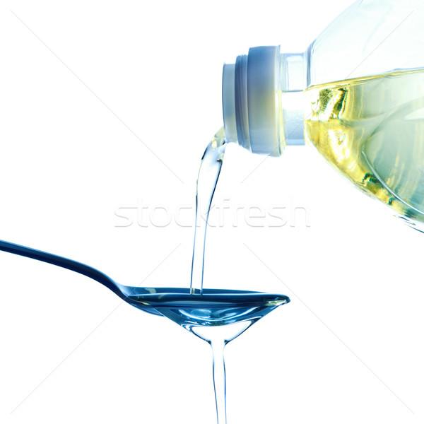 áramló olaj olívaolaj kanál fehér háttér Stock fotó © PetrMalyshev
