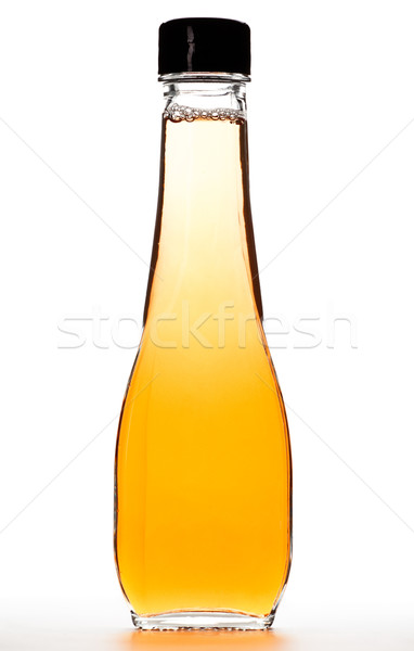 Fles appel azijn glas geïsoleerd witte Stockfoto © PetrMalyshev