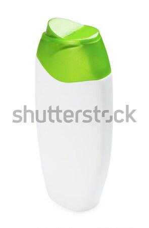 Shampoo fles plastic geïsoleerd witte haren Stockfoto © PetrMalyshev
