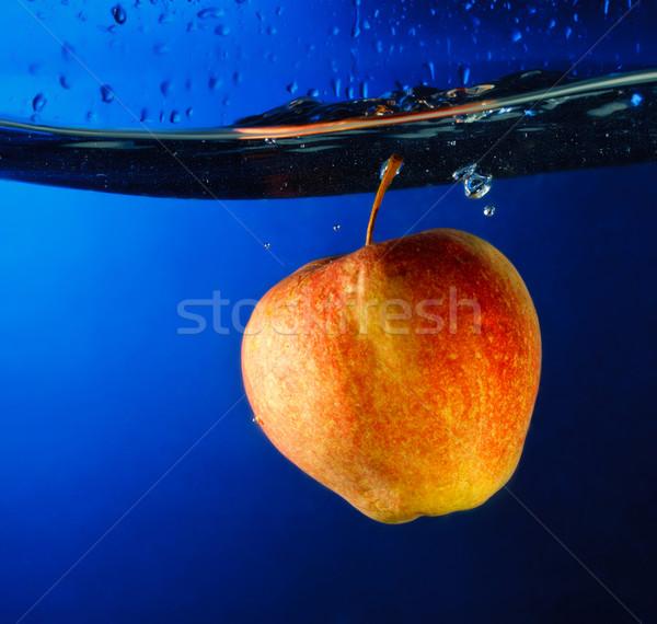 Stock photo: Apple Float Under Water