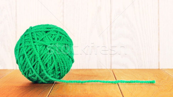 Stock photo: green Yarn Ball