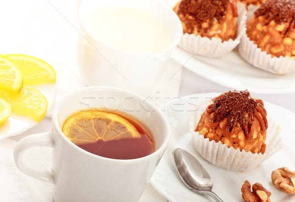 Tea With Cakes Stock photo © PetrMalyshev