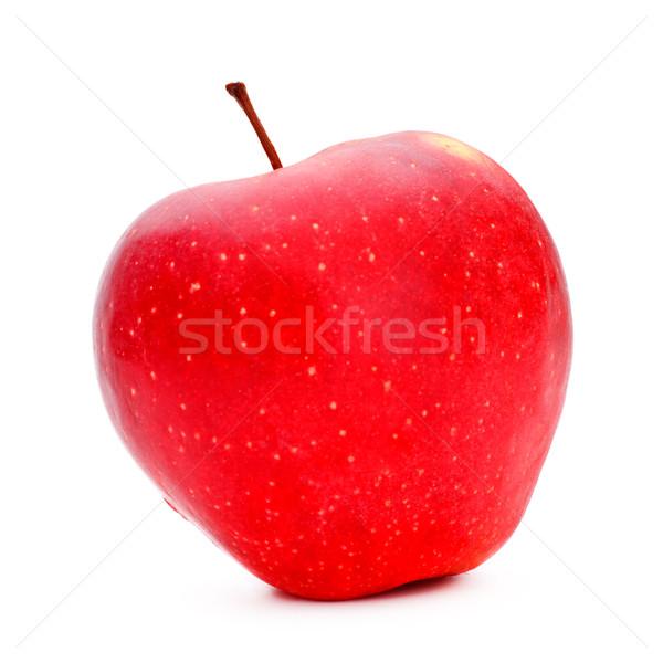 Foto stock: Maçã · vermelha · fresco · isolado · branco · comida · natureza