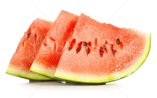 Watermeloen vers geïsoleerd witte water Stockfoto © PetrMalyshev
