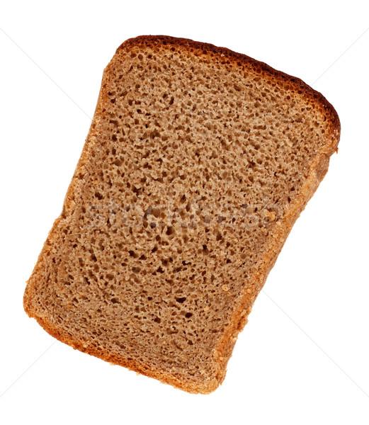 Rozs kenyérszelet szelet kenyér izolált fehér Stock fotó © PetrMalyshev