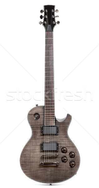 Black Electric Guitar Stock photo © PetrMalyshev