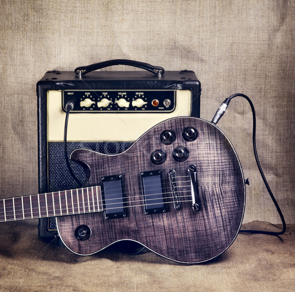 Electric Guitar and Amplifier Stock photo © PetrMalyshev