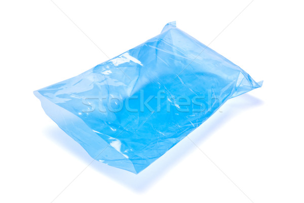 blue empty polyethylene package Stock photo © PetrMalyshev