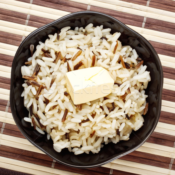 Bowl Of Cooked Rice Stock photo © PetrMalyshev