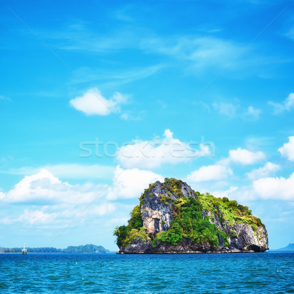 Mar alto acantilado árboles Tailandia Foto stock © PetrMalyshev