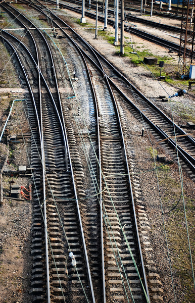 railway junction Stock photo © PetrMalyshev