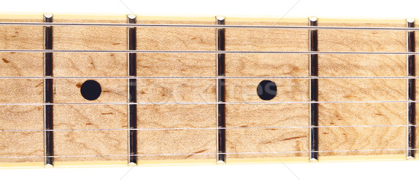 Six-Strings Guitar Fretboard Stock photo © PetrMalyshev