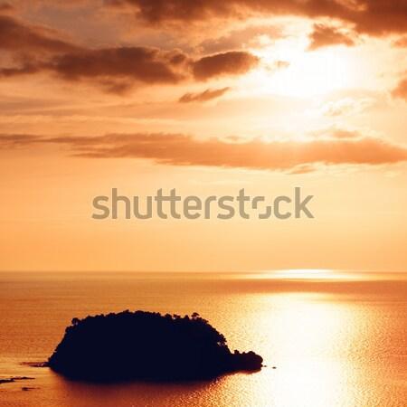 Stok fotoğraf: Gün · batımı · deniz · güneş · manzara · yaz · turuncu