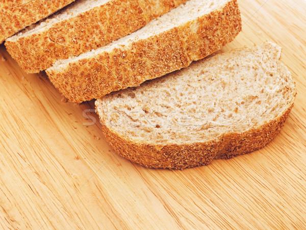 白パン まな板 食品 朝食 ストックフォト © PetrMalyshev