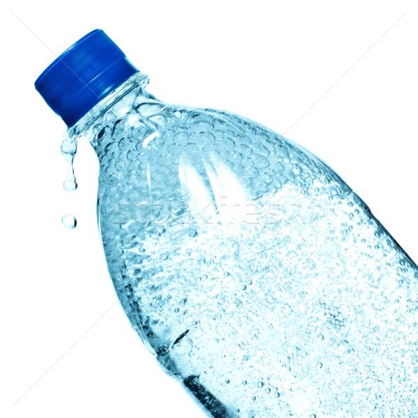 üveg ásványvíz izolált fehér víz egészség Stock fotó © PetrMalyshev
