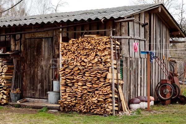 Old Village Barn Stock photo © PetrMalyshev