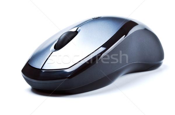 Draadloze computermuis geïsoleerd witte muis technologie Stockfoto © PetrMalyshev