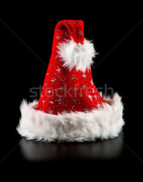santa hat with stars Stock photo © PetrMalyshev