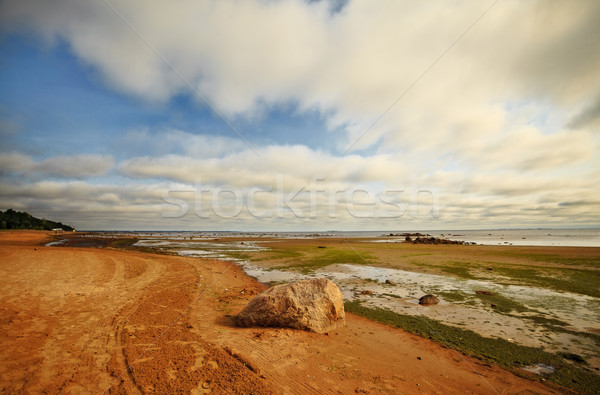 seashore with big stone Stock photo © PetrMalyshev