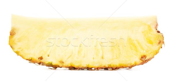 желтый ананаса ломтик сочный изолированный белый Сток-фото © PetrMalyshev