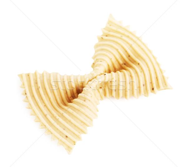 Raw White Bow Tie Pasta Stock photo © PetrMalyshev