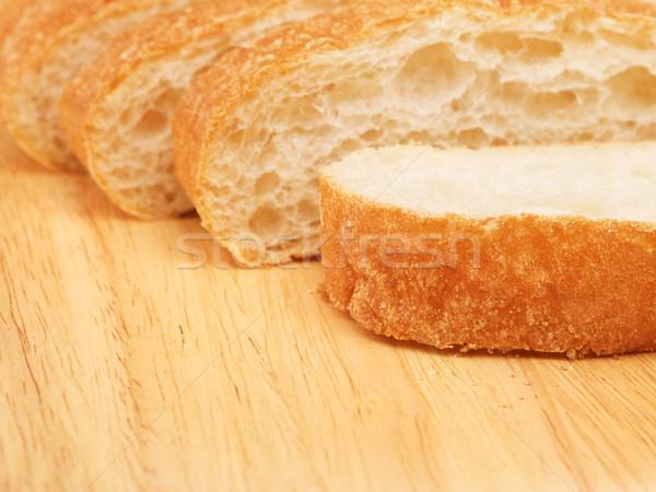 Foto stock: Pan · frescos · tabla · de · cortar · desayuno · foto