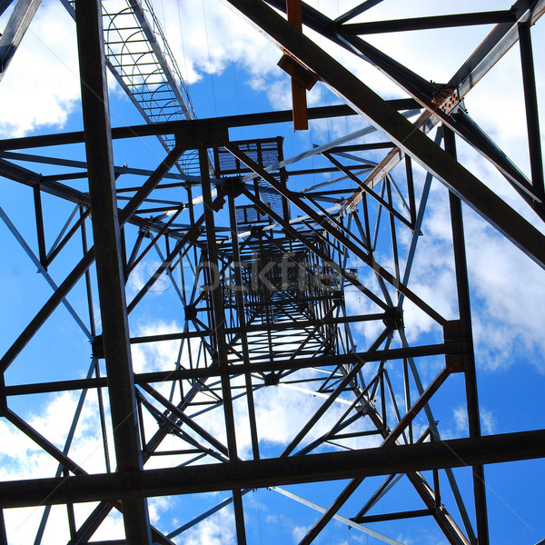under high voltage tower Stock photo © PetrMalyshev