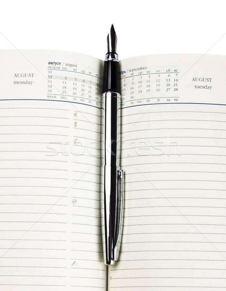 fountain pen on diary Stock photo © PetrMalyshev