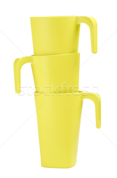 Green Bamboo Mugs Stock photo © PetrMalyshev