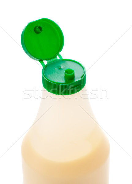 Mayonaise fles geïsoleerd witte voedsel achtergrond Stockfoto © PetrMalyshev