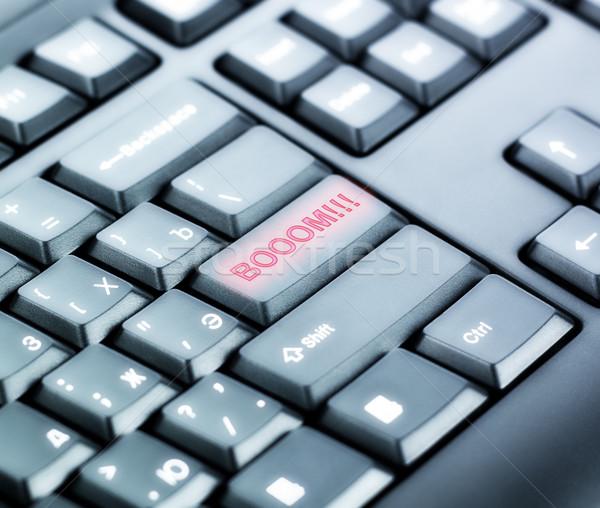 Tastatur Boom Taste schwarz Computer Hintergrund Stock foto © PetrMalyshev