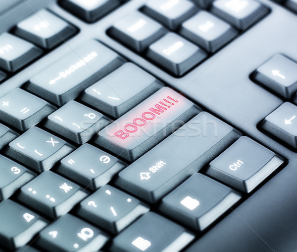 Keyboard with BOOM Button Stock photo © PetrMalyshev