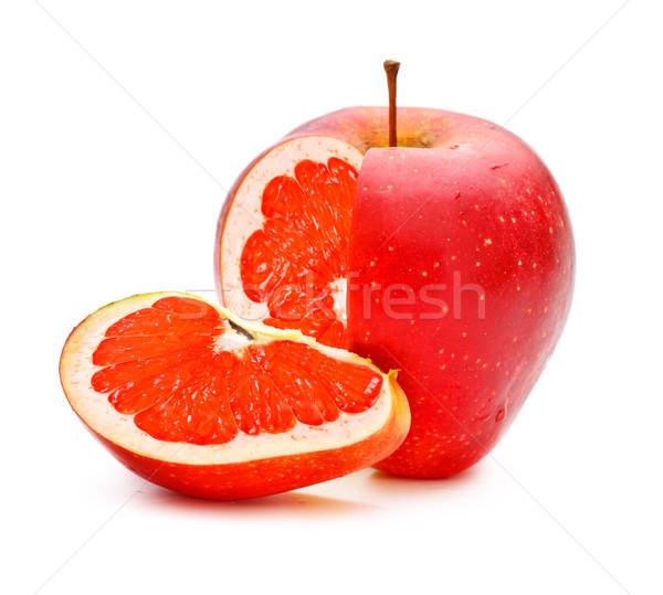 Génmanipulált piros alma grapefruit étel gyümölcs kert Stock fotó © PetrMalyshev