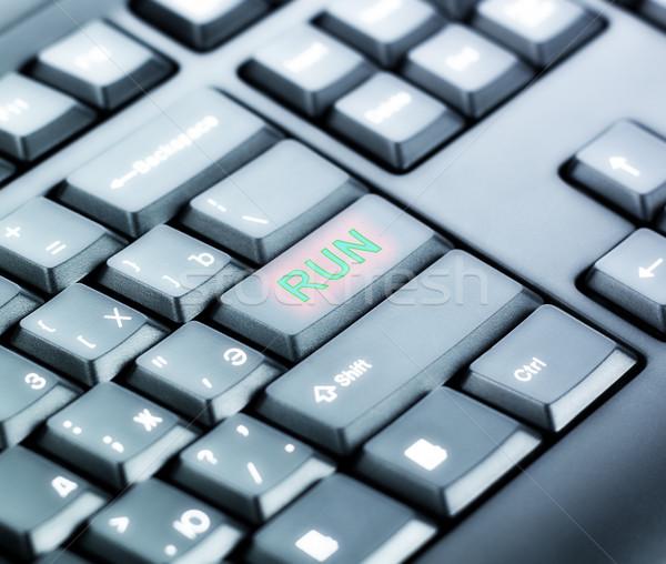 Keyboard with RUN Button Stock photo © PetrMalyshev