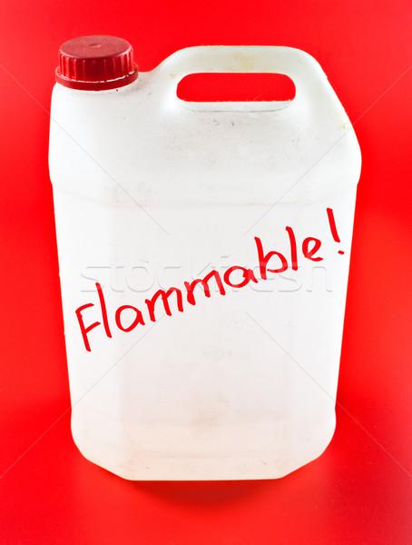 Gyúlékony poros műanyag tűz háttér ipar Stock fotó © PetrMalyshev