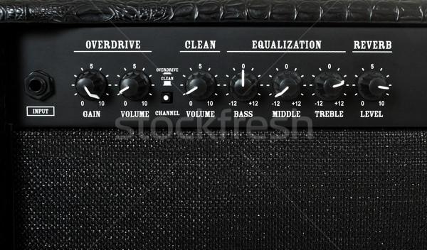 guitar amplifier control panel Stock photo © PetrMalyshev