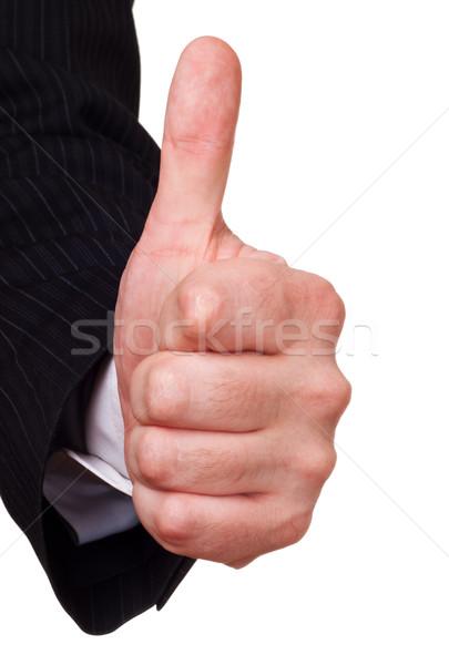 Empresário aprovação gesto branco negócio homens Foto stock © PetrMalyshev