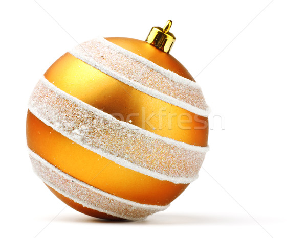 orange decoration ball Stock photo © PetrMalyshev