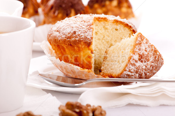 sweet cake on white dish Stock photo © PetrMalyshev