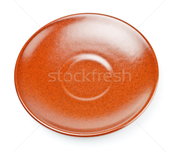 brown ceramic saucer Stock photo © PetrMalyshev