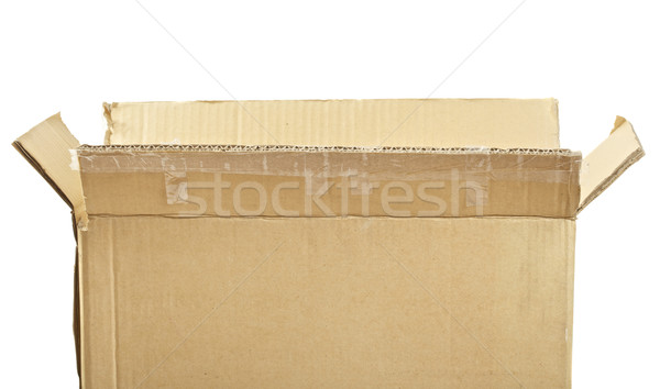 Caja de cartón abierto vacío aislado blanco cuadro Foto stock © PetrMalyshev
